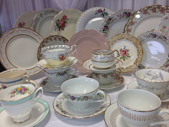 Vintage Dishes, Tea cups and Side Platess