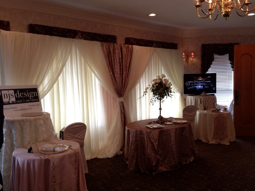 Ivory Classic Backdrop with Rose Gold Sequin Accents