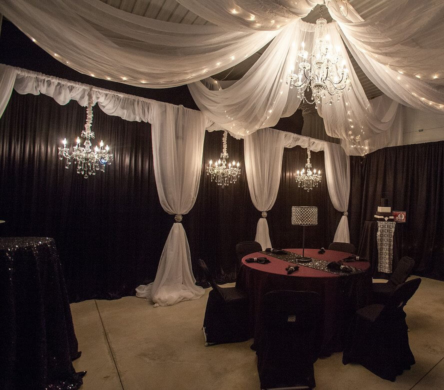 Njs Design Event Party Rentals 187 Classic Black And White