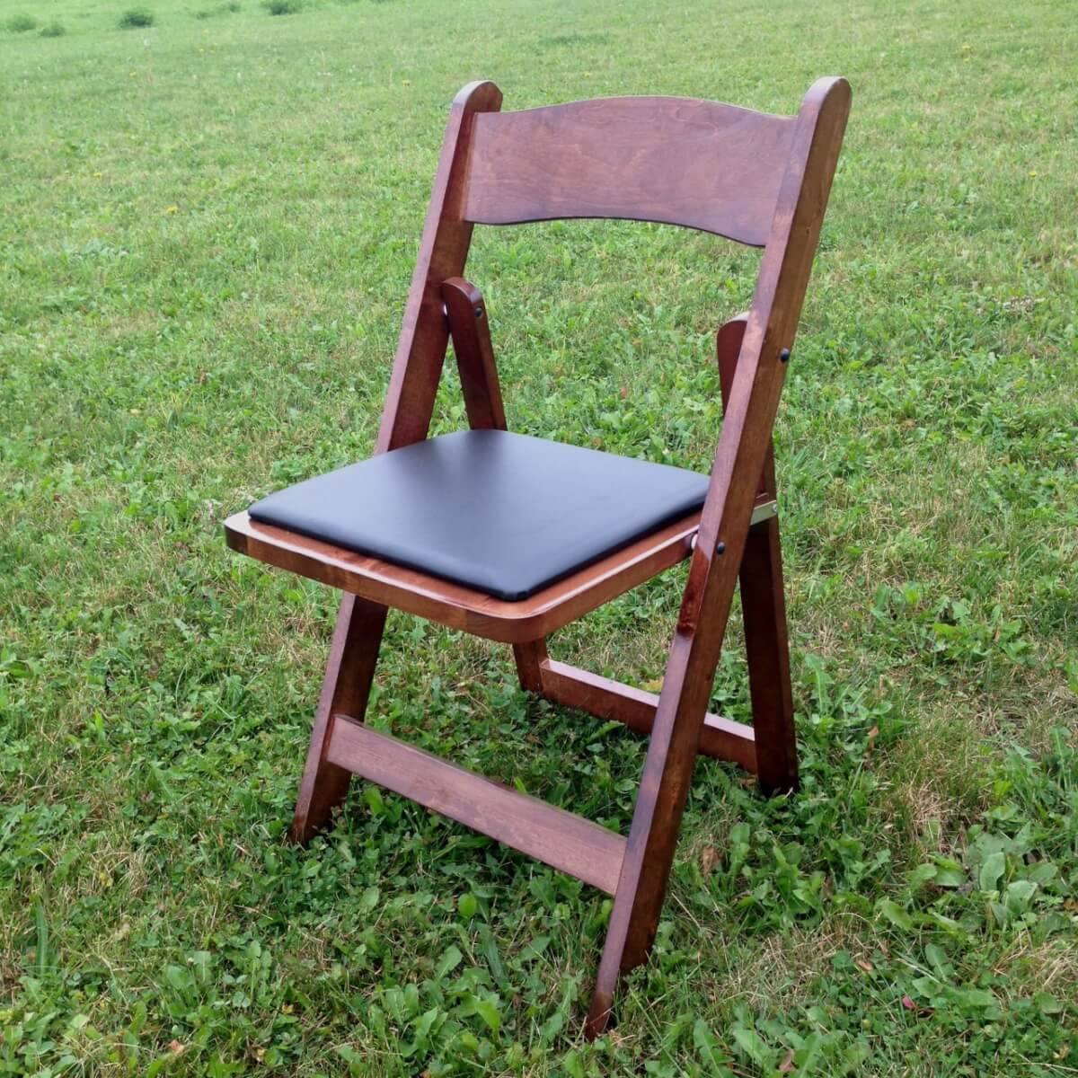 Dark Wood Folding Chair