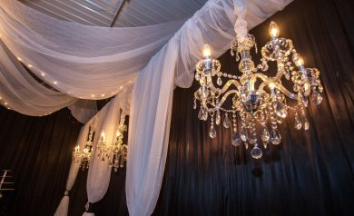 Njs design event party rentals chandeliers ceiling canopies crystal chandelier all blinged out small aloadofball Images