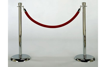 Stanchions w/ red velour rope