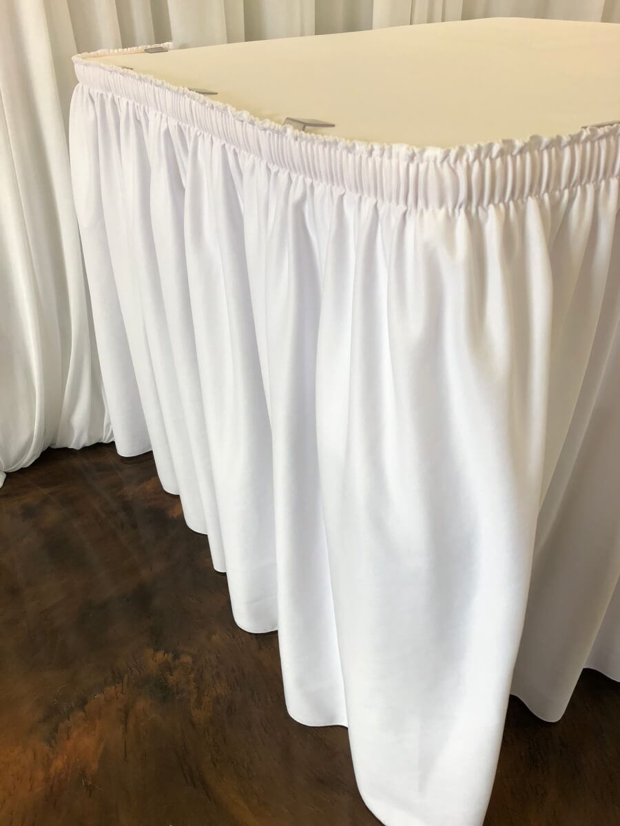 White Table Skirting