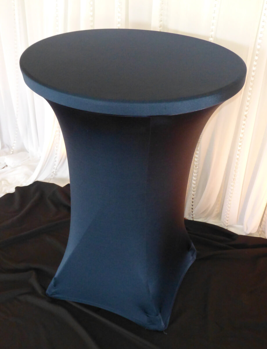 Navy Spandex Cocktail Table Cover