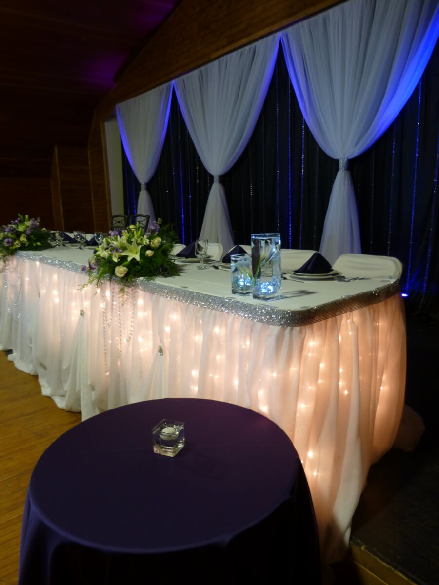 White Sheer Voile Table Skirting