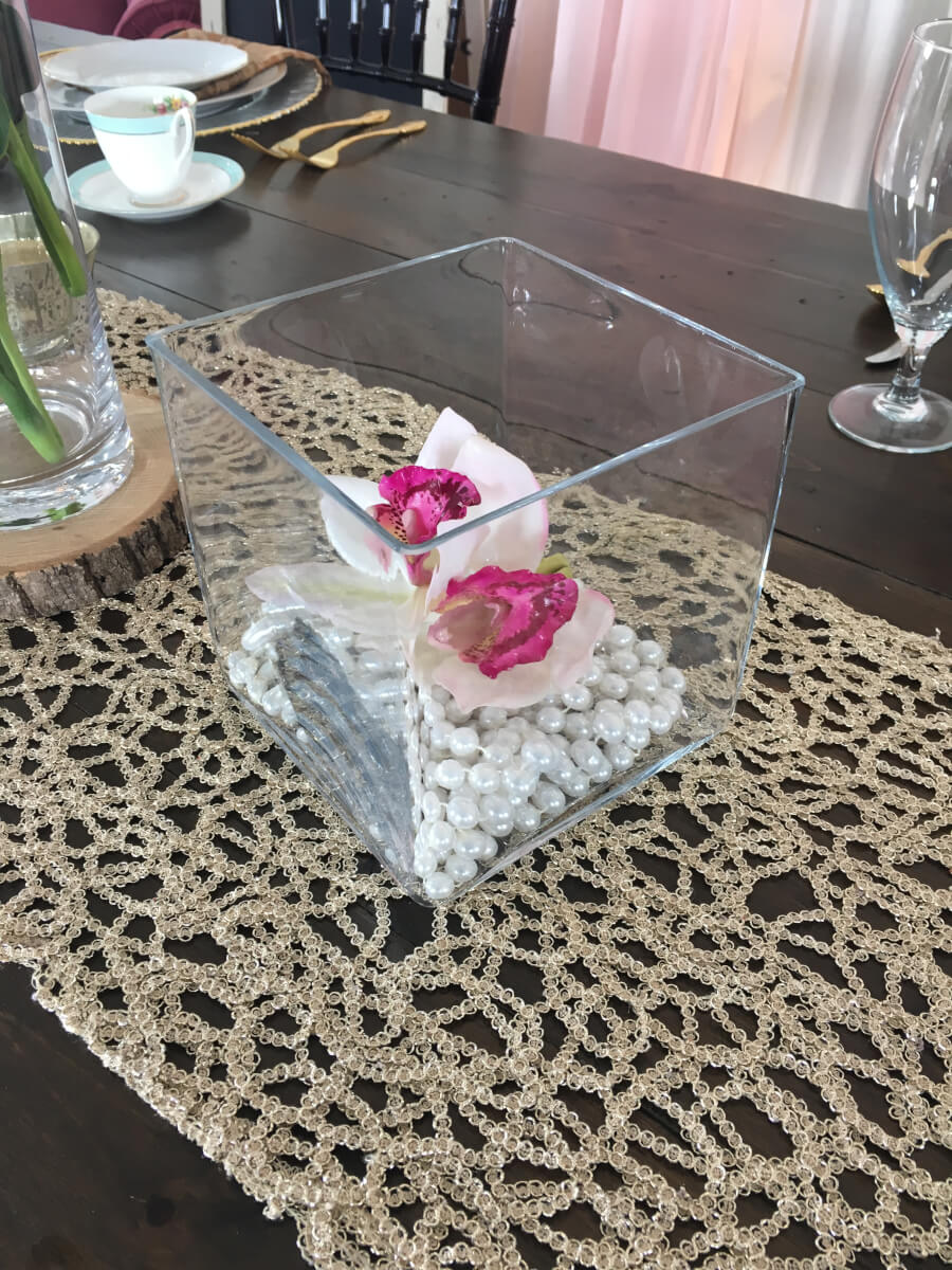 Cube Vase and Candle Holders