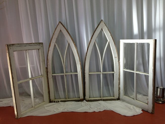 Vintage Cake Table Windows