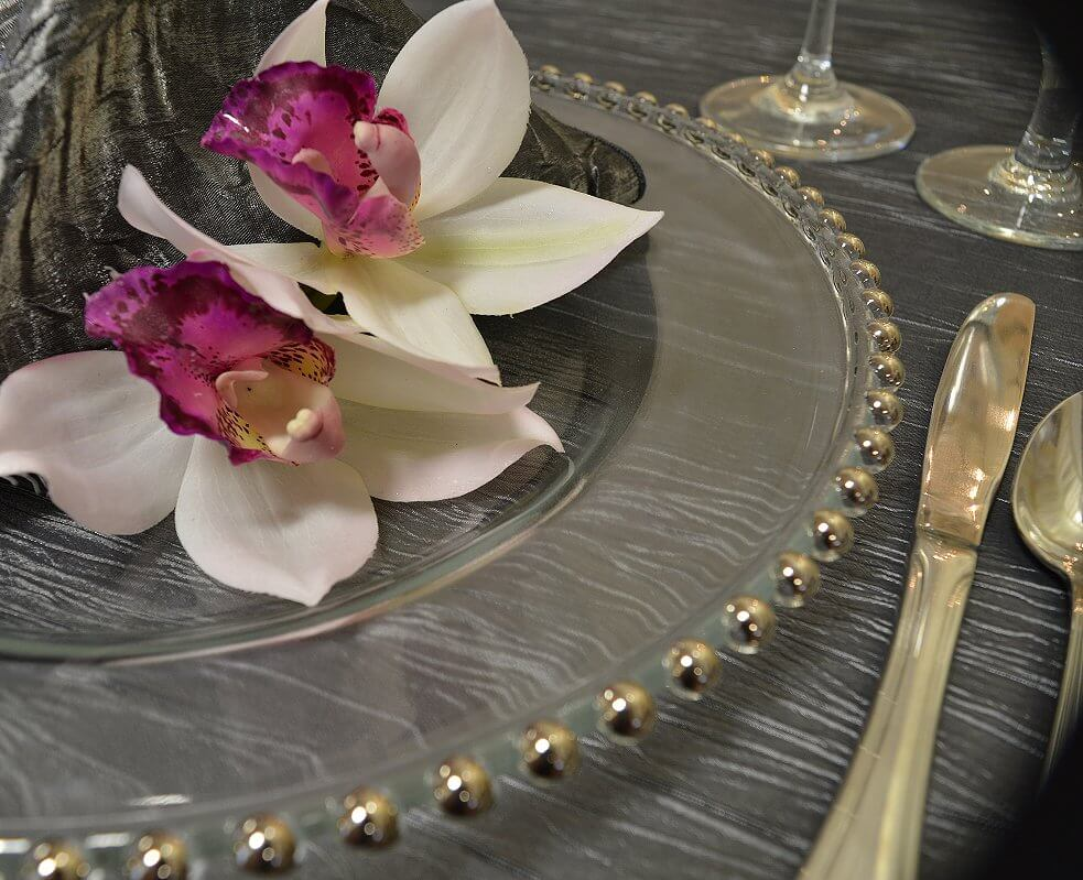 Silver Ball Charger Plate
