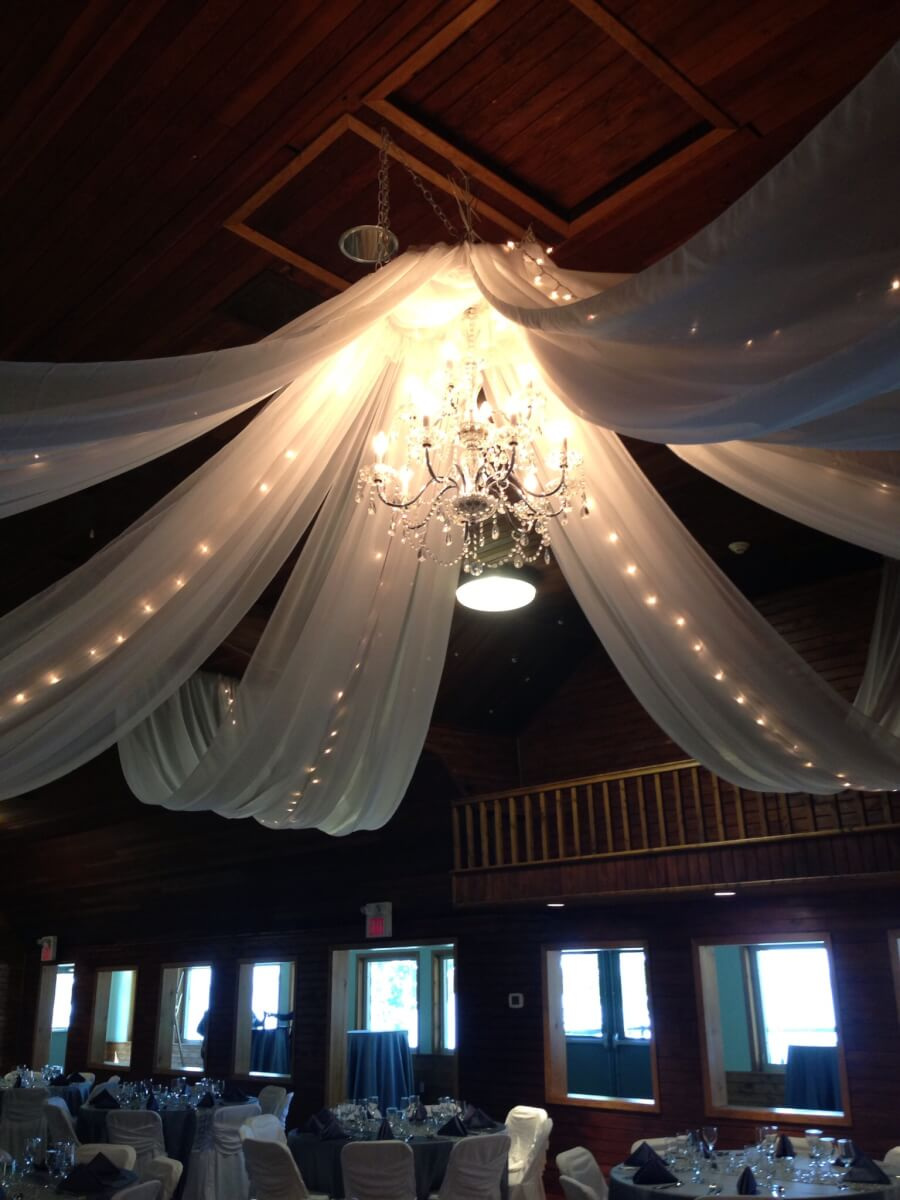 White Ceiling Canopy