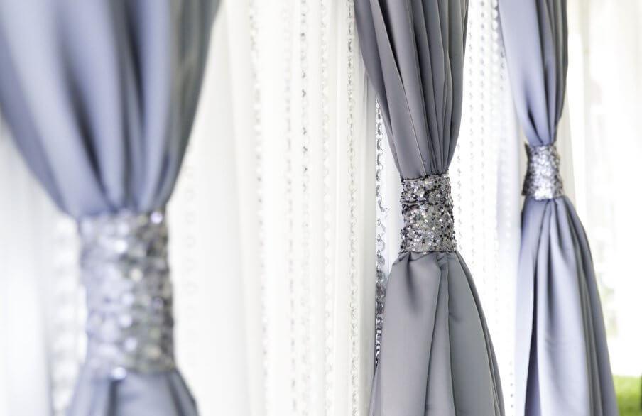 Classic Backdrop: Charcoal Sequin Crystals