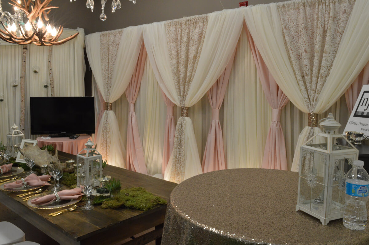 Blush Ivory Gold Dream Backdrop