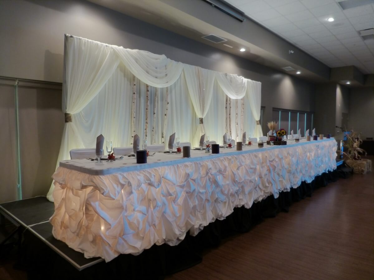 Classic Backdrop with a Rustic Touch