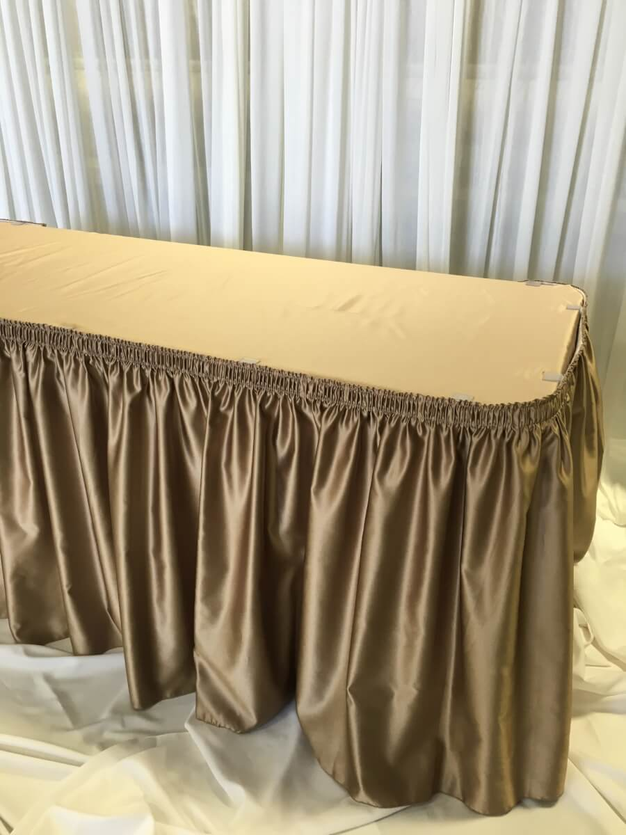 Latte Satin Table Skirting