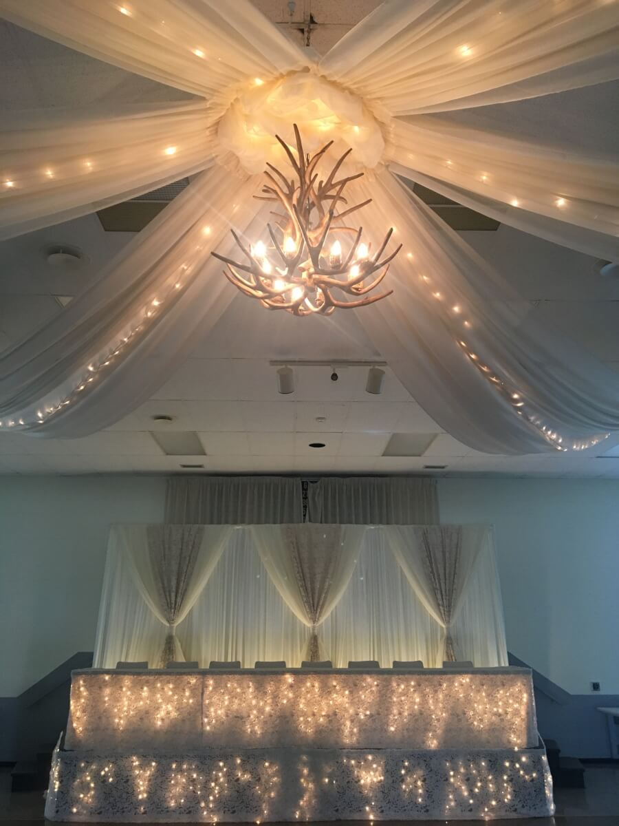 Ivory Ceiling Canopy