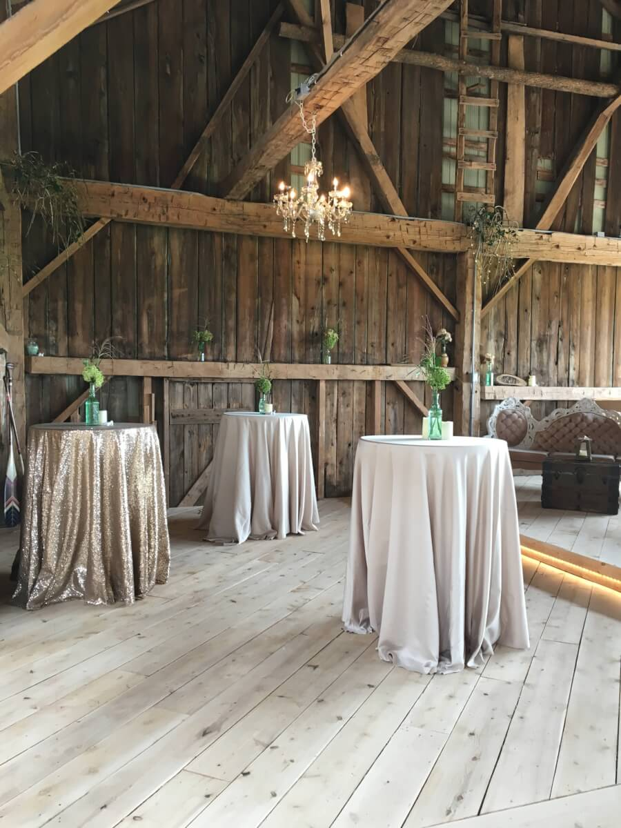 Champagne Gold Sequin in a Rustic Barn