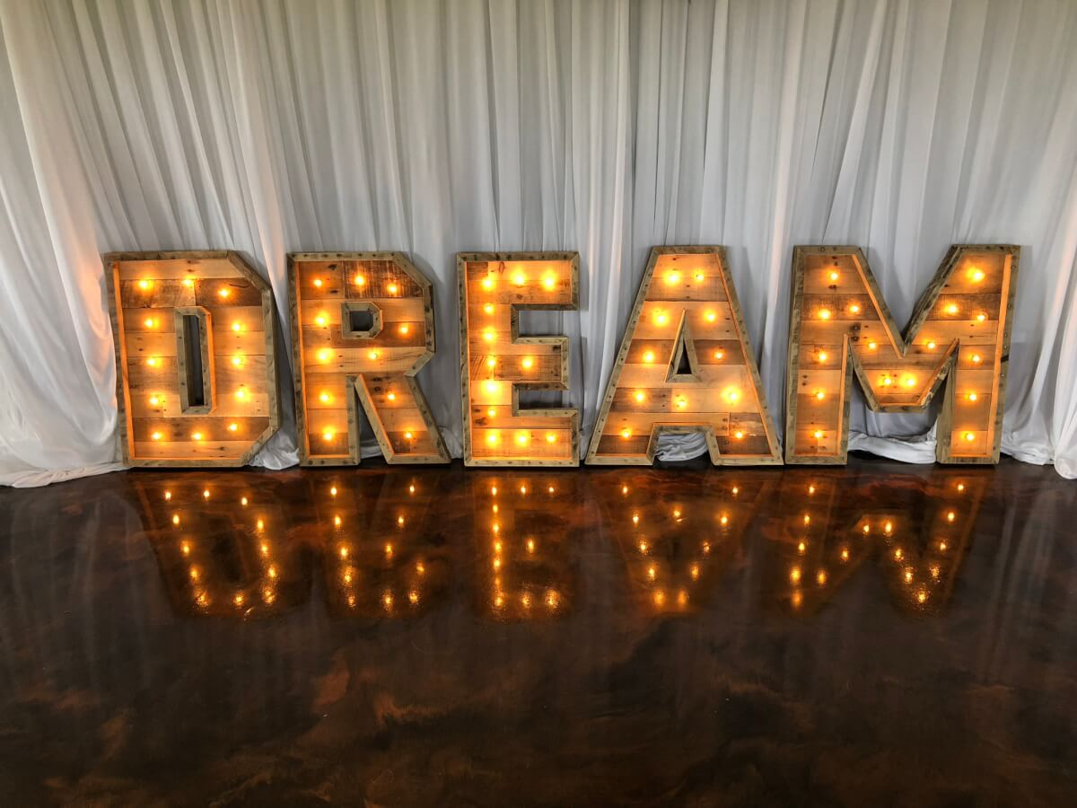 Dream Marquee Letters