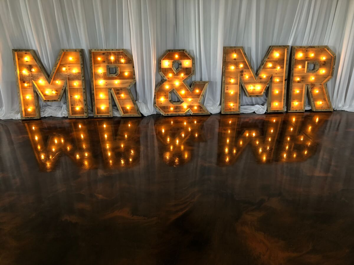 Mr & Mr Marquee Letters
