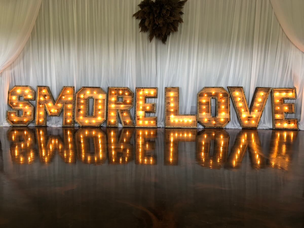 S'More Love Marquee Letters