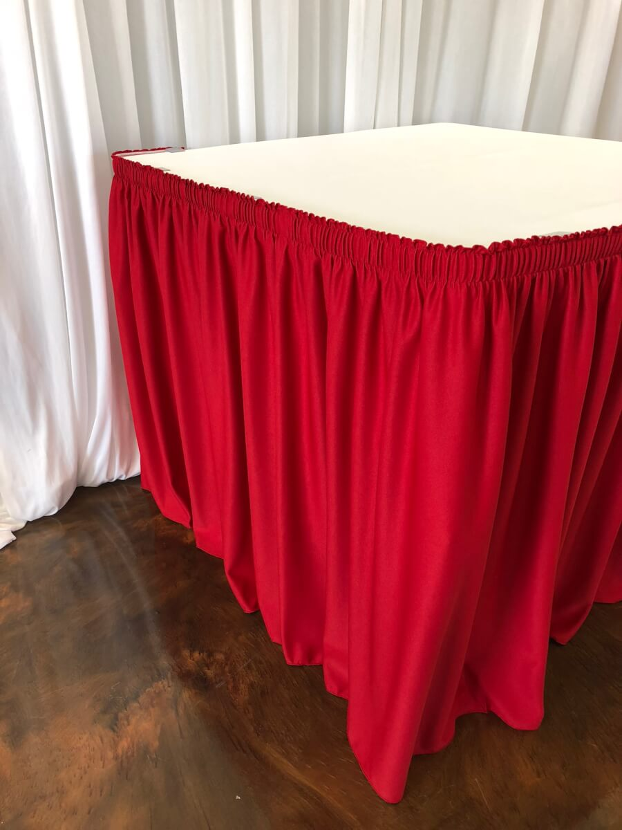 Red Table Skirting