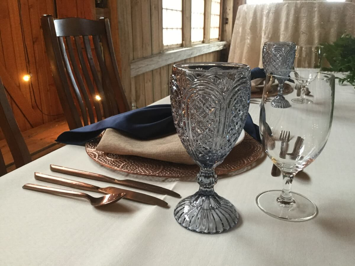 Dusty Blue Vintage Goblet
