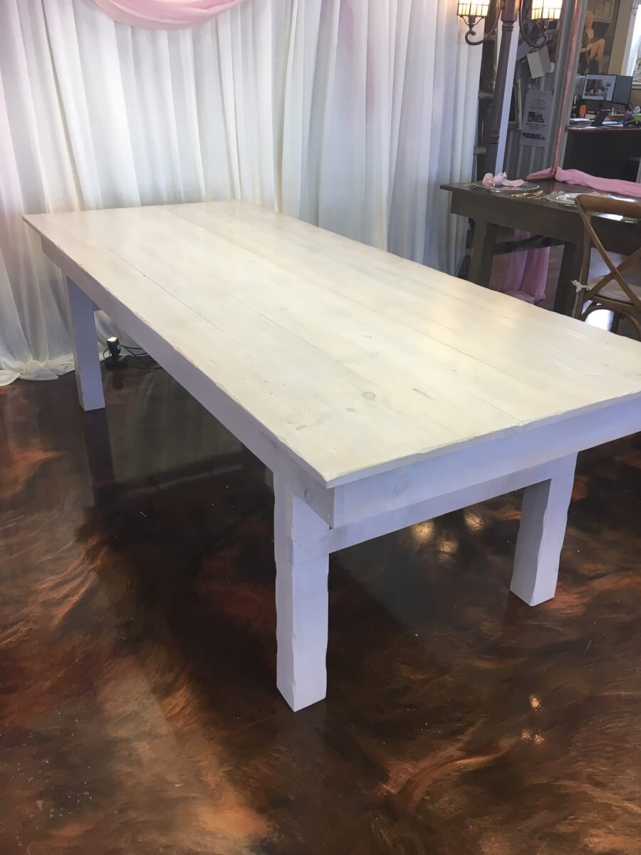 White Washed Harvest Table