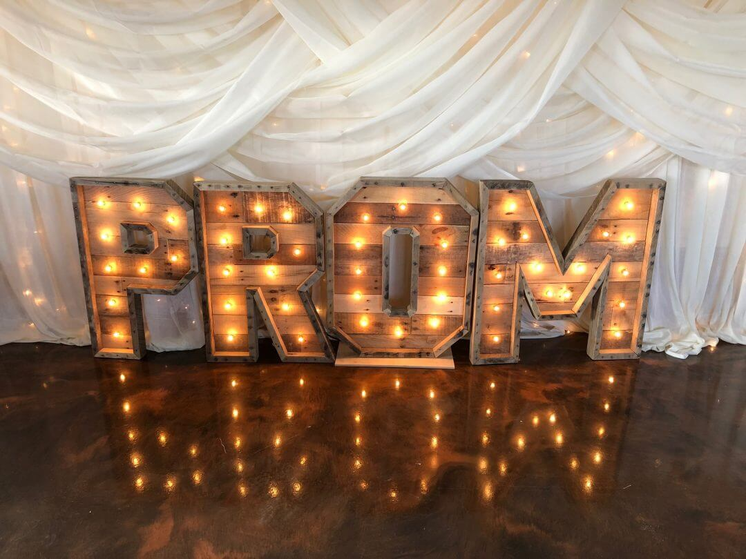 PROM Marquee Letters