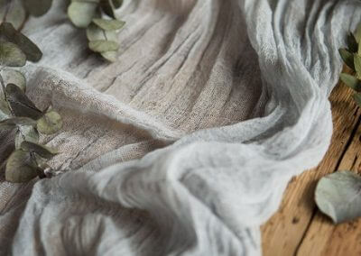 Grey Cheesecloth Runner