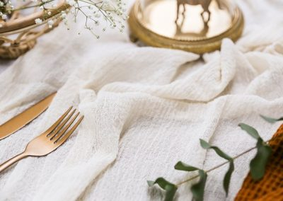 Ivory Cheesecloth Runner