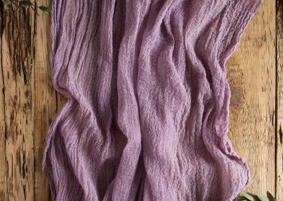 Amethyst Cheesecloth Runner